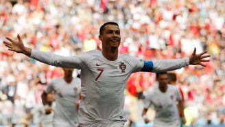 CR7 celebra su gol frente a Marruecos