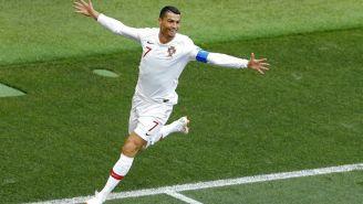 Cristiano Ronaldo celebra anotación frente a Marruecos
