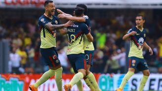 América en festejo durante un partido contra Santos