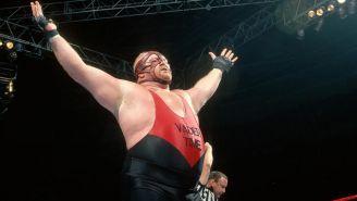 Vader después de ganar una lucha en la WWF