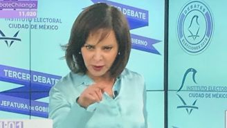 Purificación Carpinteyro durante el debate