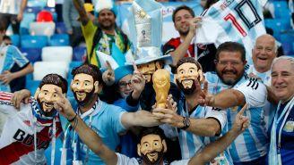 Afición de Argentina, previo al duelo contra Croacia