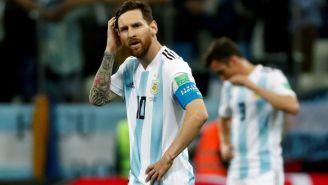 Lionel Messi se lamenta tras la derrota contra Croacia