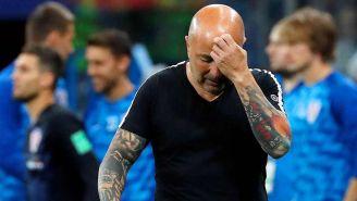 Sampaoli se lamenta en el partido contra Argentina