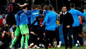 Zlatko Dalic festeja triunfo contra Argentina