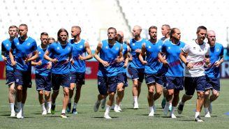 Islandia, durante el entrenamiento de cara al duelo vs Nigeria