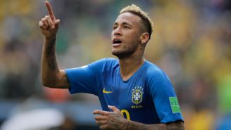 Neymar celebra su gol frente a Costa Rica