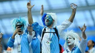 Aficionados de Argentina, en juego contra Croacia