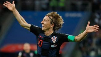 Luka Modric festeja su gol contra Argentina