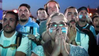 Aficionados argentinos durante partido de su selección
