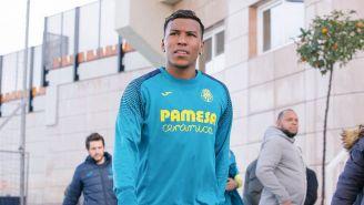 Roger Martínez llega a un entrenamiento del Villarreal