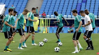 Alemania entrena de cara al juego contra Suecia