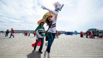 Aficionada del Tri, feliz antes de ingresar a la Rostov Arena