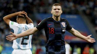 Ante Rebic festeja su gol contra Argentina en Rusia 2018