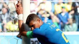 Thiago durante el partido contra Costa Rica