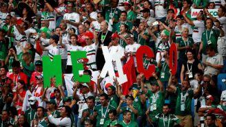 Afición mexciana en las gradas de la Rostov Arena
