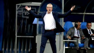 Janne Andersson reclama jugada en el duelo contra Alemania