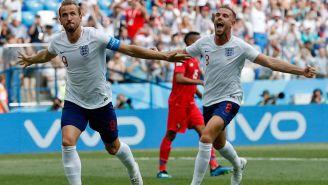Kane celebra uno de sus goles frente a Panamá