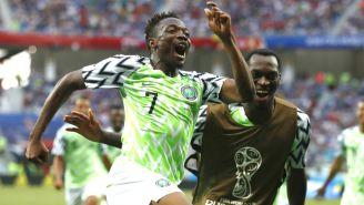 Ahmed Musa celebra su gol ante Islandia