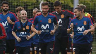 España durante un entrenamiento en Krasnodar