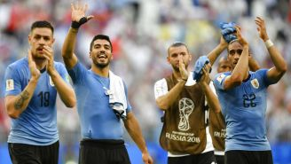 La Selección de Uruguay celebra su triunfo contra Rusia