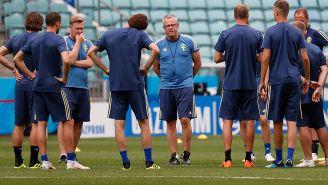 Andersson, en un entrenamiento con sus dirigidos