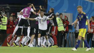 Alemania celebra su triunfo ante Suecia