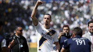 Zlatan Ibrahimovic después de un partido de MLS