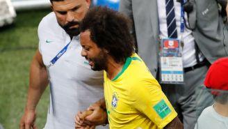 Marcelo llora tras lesionarse frente a Serbia