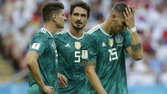 Jugadores de Alemania se lamentan tras quedar eliminados del Mundial