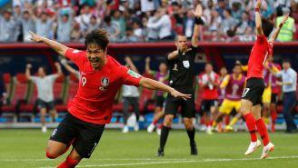 Young-gwon Kim celebra su tanto contra Alemania