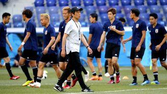 Japón entrena previo al duelo contra Polonia