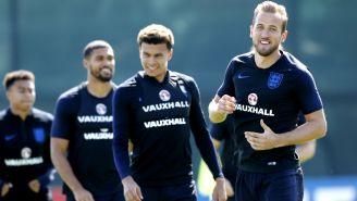 Harre Kane, durante el entrenamiento con Inglaterra