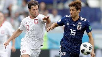 Así se peleaba el esférico en el Japón-Polonia