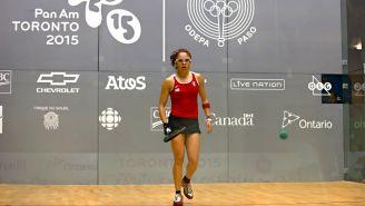 Longoria, en la Final de Raquetbol Individual Femenino de los Juegos Panamericanos Toronto