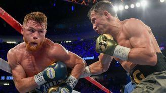 Canelo y Golovkin, durante su primer enfrentamiento en Las Vegas