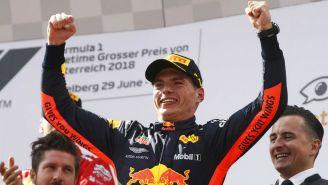 Max Verstappen celebra su triunfo en el Gran Premio de Austria