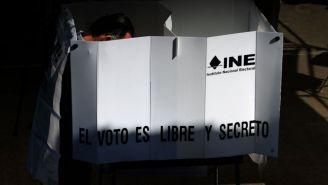 Urna del INE para las elecciones de 2018