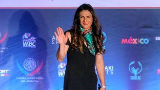 Ana Guevara, durante el Beyond Sport México