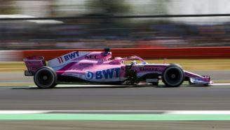 Monoplaza de Sergio Pérez en el Circuito de Silverstone