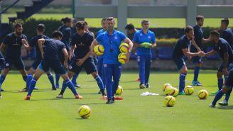 Cruz Azul durante un entrenamiento de pretemporada