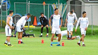 Ángel Sepúlveda, en el entrenamiento con Chivas