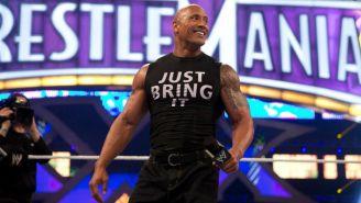 The Rock durante la función de Wrestlemania
