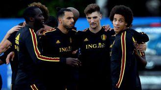 Seleccionados de Bélgica, durante un entrenamiento