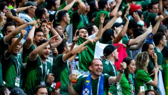 Afición mexicana alienta al Tri durante el duelo vs Alemania