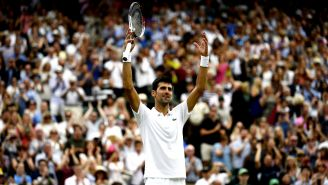 Novak Djokovic festeja triunfo frente a Rafael Nadal
