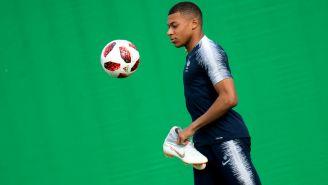 Kylian Mbappé, durante un entrenamiento con Francia