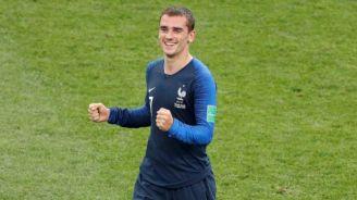 Antoine Griezmann, feliz tras ganar la Copa del Mundo de Rusia 2018
