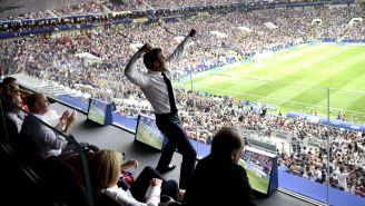 Macron festeja con euforia título de Francia