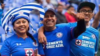 La afición de Cruz Azul durante un partido